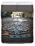 Tokyo Sewer Cover Duvet Cover