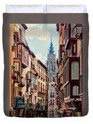 Toledo Cityscape Duvet Cover