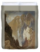 Toltec Gorge And Eva Cliff From The West, Colorado, 1892 Duvet Cover