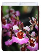 Tolumnia Pink Panther Orchid Duvet Cover