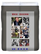 Tom Brady Football Goat Duvet Cover