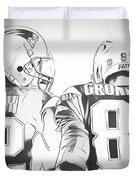 Tom Brady Rob Gronkowski Sketch Drawing By Dan Sproul