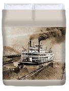 Tom Greene River Boat Duvet Cover