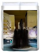 Tom Mccall Waterfront Fountain Duvet Cover
