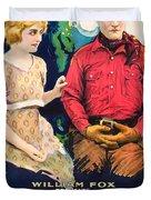 Tom Mix In Treat'em Rough 1919 Duvet Cover