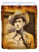 Tom Tyler, Vintage Western Actor Duvet Cover