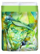 Tom Waits - Watercolor Portrait.5 Duvet Cover