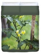 Tomato Flowers Duvet Cover