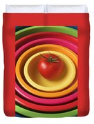 Tomato In Mixing Bowls Duvet Cover