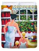 Tomato - Materphobia Duvet Cover