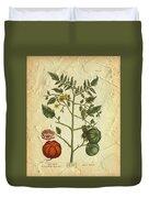 Tomato Plant Vintage Botanical Duvet Cover