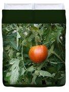 Tomato Plants In A Nebraska Garden Duvet Cover