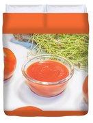 Tomato Sauce Duvet Cover