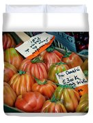 Tomatoes At Market Duvet Cover