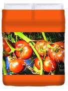 Tomatoes Hanging Like Grapes From Vines Go1 3711a3 Duvet Cover
