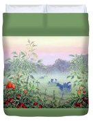 Tomatoes In The Mist Duvet Cover