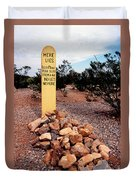 Tombstone Boot Hill Duvet Cover