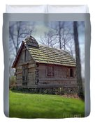 Tom's Country Church And School Duvet Cover