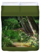 Toms Creek In Late Summer Duvet Cover