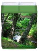 Toms Creek In Summer 3 Duvet Cover