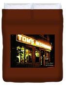Tom's Restaurant Duvet Cover