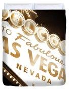 Tonight In Vegas Duvet Cover by Az Jackson