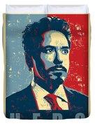 Tony Stark Duvet Cover by Caio Caldas