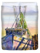 Tonyo Shrimp Boat Duvet Cover