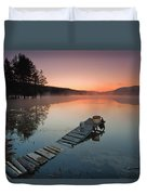 Too Early For Fishing Duvet Cover
