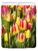 Too Many Tulips Duvet Cover