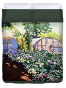 Tool Shed And The Greenhouse Duvet Cover