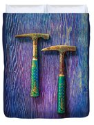 Tools On Wood 65 Duvet Cover