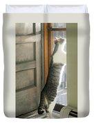 Tip Toe Cat Duvet Cover