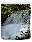 Top Of Clear Creek Falls Duvet Cover
