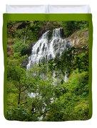 Top Of Munson Creek Falls Duvet Cover