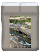 Top Of Noccalula Falls Duvet Cover