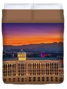 Top Of The Bellagio After Sunset Duvet Cover