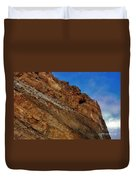 Top Of The Cliff Duvet Cover