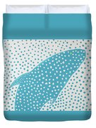 Top Of The Dotted Whale Duvet Cover by Deborah Boyd