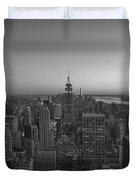 Top Of The Rock At Sunset Bw Duvet Cover