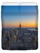 Top Of The Rock At Sunset Duvet Cover