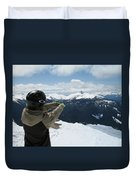 Top Of The World Duvet Cover