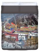 Top View. Krasnaya Polyana. Duvet Cover