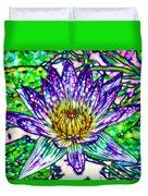 Top View Of A Beautiful Purple Lotus Duvet Cover