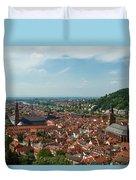 Top View Of Heidelberg, Germany. Duvet Cover