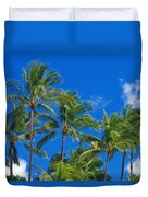 Tops Of Palms Duvet Cover