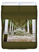 Topsail Island Pier Duvet Cover
