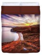 Tor Bay Sunset Duvet Cover