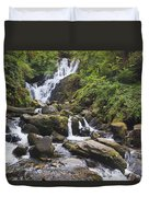 Torc Waterfall In Killarney National Duvet Cover