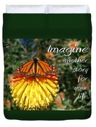 Torch Lily And Monarch Duvet Cover